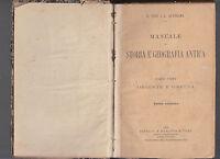 G. TUZI L. QUARTANA-MANUALE DI STORIA E GEOGRAFIA ANTICA 1° PARTE PARAVIA 1895