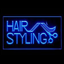 160050 Hair Styling Retro Vintage Modern Blonde Wave Display LED Light Sign