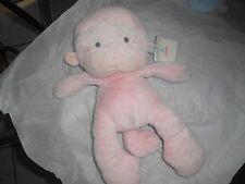 """GUND MEME 320411 PINK PLUSH LOVEY GRAY  STITCHED EYES 15"""" monkey ape soft new"""