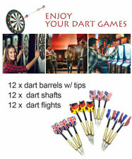 12sets of Steel Tip Darts Slim Barrel With Nice Dart Flights Dart Tips