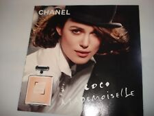 RARE UNUSED Keira Knightley CoCo CHANEL Perfume PAPER flyer sample CARSONS