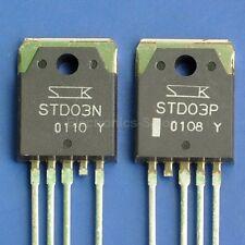 1pcs STD03P and 1pcs STD03N SANKEN Aduio Darlington Transistors