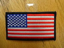 AMERICAN USA FLAG BLACK BORDER EMBROIDERED PATCH MILITARY