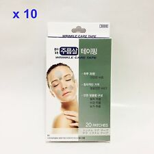 x 200 patches Anti-Wrinkle Care Tape Forehead Brow Laugh Lines & Eye Korean made