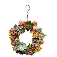 26cm Iron Frame Wire Wreath Succulent Pot Metal Planter Iron Box Romantic