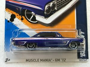 HOT WHEELS 2012 HW MUSCLE MANIA-GM 62 CHEVY #3/10 COLLECTOR NO. 103/247