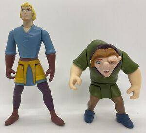 "Disney Hunchback of Notre Dame Quasimodo 4"" Phoebus 5"" Mattel Toy Action Figures"