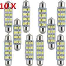 10pcs 41mm-12SMD-3528 LED Car Interior Festoon Dome Bulb Lamp Light 12V White HL