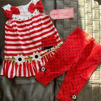 Nannette 2 piece toddler girls 2t set