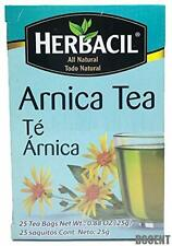 Herbacil Arnica Tea. Herbal Infusion. Natural Pain & Inflammation Relief. 25Bags