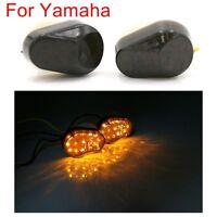 LED Flush Mount Smoke Turn Signal Indicator Blinker Lights Motorcycle For Yamaha