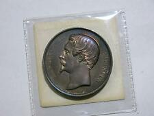FRANCE 1859/4 BORDEAUX EXPOSITION NAPOLEON TONED SILVER MEDAL OLD COLLECTION LOT