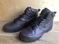 Nike ACG Mid Boots UK 10 EUR 45 Men's Walking Hiking Leather Shoe Dark Brown VGC