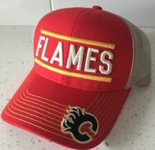 CALGARY FLAMES Adjustable Mesh Hat - Cap NHL Hockey Puma