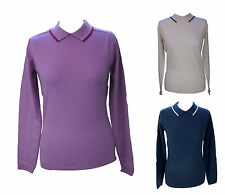 Zip Patternless Wool Jumpers & Cardigans for Women