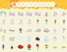 WEDDING and FLOWER furniture sets (Customizable!) Animal Crossing:New Horizons