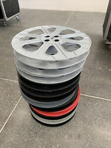 Lot 12 35mm 2000 Feet Film Reels - Technicolor, Tayloreel, Tuscan, Circular
