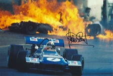 Jackie Stewart Signed 8X12 inches Tyrrell Ford F1 Photo
