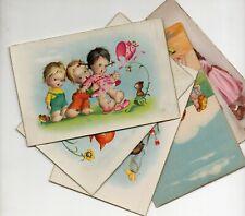 LOTE DE 5 POSTALES INFANTILES DE 1.958 # 1003