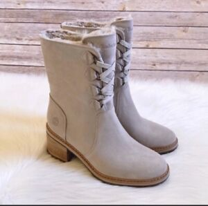 Timberland Women's Sienna High Waterproof Mid Light Taupe Suede Size 10