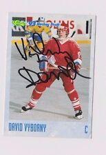 93/94 Classic Draft Hockey David Vyboany Sparta Praha Autographed Card