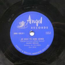 GILBERT BECAUD Que toi / Je veux te dire... CANADA '50s ORIG ANGEL 78 rpm FRENCH