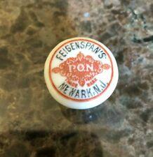 Feigenspan's Pon Newark Nj Porcelain Beer Bottle Stopper Cap