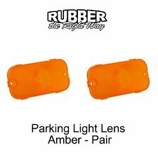 1961 1962 1963 1964 Ford Galaxie Parking Light Lenses - Amber - Pair