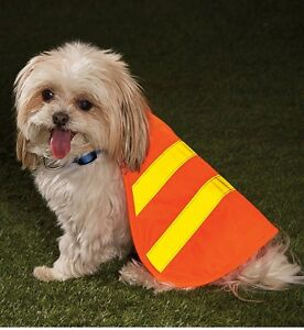 """BRAND NWT Orange Safety REFLECTOR VEST for DOGS - SIZE SMALL 11 1/4""""L x 11 3/4""""W"""