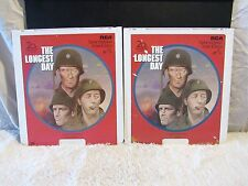 CED VideoDisc The Longest Day (1962) 20th Century Fox, Black & White, Part 1 & 2