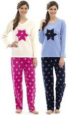 Tom Franks Ladies Fleece Snowflake Applique Pyjamas
