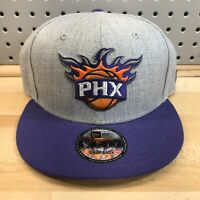 Phoenix Suns NBA Basketball New Era 9Fifty Snap Back Flat Bill Gray Hat EUC Cap