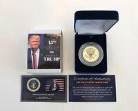 President Donald Trump...  Presidential Seal...  Commemorative Coin.. in a Case