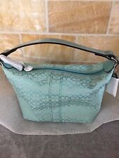 Coach Make up Cosmetic Bag Soho Aqua Brand New with tags Pristine