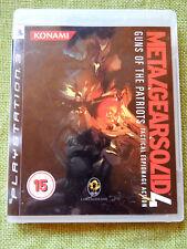 Metal Gear Solid 4 Guns of the Patriots (PlayStation 3, PS3, Region Free,Manual)