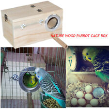 Clear View Window Strong Wooden Bird Nesting Box Bird Watching Box