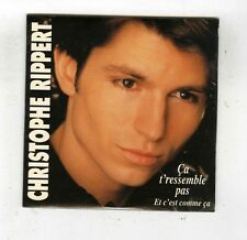 CD SINGLE (NEUF) CHRISTOPHE RIPPERT CA T'RESSEMBLE PAS (AB DISQUES)