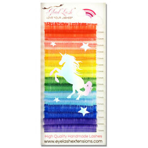 Glad Lash® Rainbow Silk Eyelash Extensions - Brown, Auburn, Red, Gold..