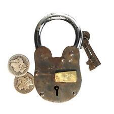 "RMS Titanic Padlock Vintage Antique Style Treasure Chest Lock 2lb 6 "" Tall Rust"