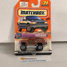 Chevy Blazer #71 * RED * Matchbox * B14