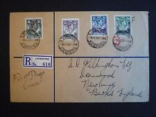 Northern Rhodesia 1938 High Val  Reg'd FDC SG41-44 Superb