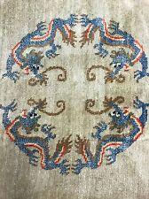VINTAGE DRAGO CINESE Turkestan Orientale Dimensioni: 360x270 cm Tappeto Tappeto fatto a mano