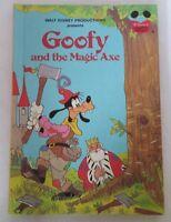 Walt Disney's Goofy and the Magic Axe Hard Cover Book 1982