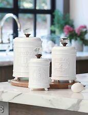 Mud Pie MH7 Circa Kitchen Baking Cooking Door Knob Ceramic Canister Set 4931002