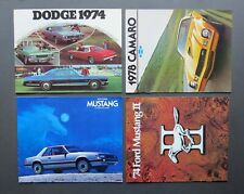 1974-79 American Car Brochures – Ford, Dodge & Chevrolet – Sold Individually