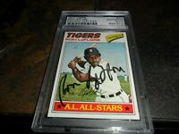"""1977 Topps #240 RON LEFLORE RC Signed """"BOLD"""" Detroit Tigers Rookie Card PSA/DNA"""