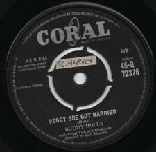 BUDDY HOLLY peggy sue got married*crying, waiting, hoping UK CORAL ROUND CENTRE