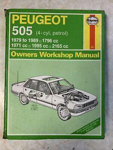 Peugeot 505 Haynes Workshop Manual 1979-89