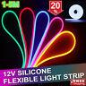 LED Strip 12V Neon Flex Rope Light 5m Waterproof Flexible Outdoor Lighting UK