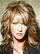 Layered Messy Wavy Mid-Length Hair Capless Wigs 14 Inches